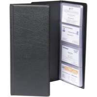 Goldline Business Card Holder Classic Black Capacity 128 CBC4P
