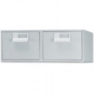 Bisley Card Index Cabinet 8x5 inches Double Grey FCB25