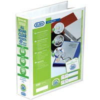 Elba Panorama Presentation Binder PVC 3 Cover Pockets 4 D-Ring 50mm A4 White Ref 400001309 [Pack 10]