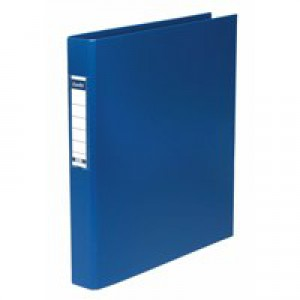 Elba Ring Binder Heavyweight PVC 2 O-Ring Size 25mm A4 Blue Ref 400001508 [Pack 10]