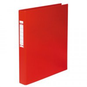 Elba Ring Binder Heavyweight PVC 2 O Ring Size 25mm A4 Red