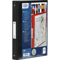 Bantex Vision 2-Ring Binder A4 25mm Black 100080891