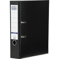 Elba Lever Arch File PVC Slotted 70mm Spine Foolscap Black Ref 100080913 [Pack 10]