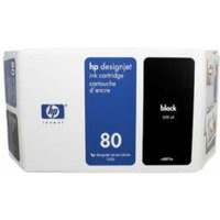Hewlett Packard [HP] No. 80 Inkjet Cartridge 350ml Black Ref C4871AE