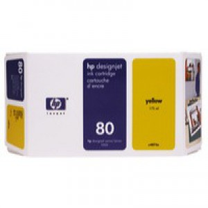 Hewlett Packard [HP] No. 80 Inkjet Cartridge 350ml Yellow Ref C4848AE