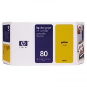 HP No.80 Inkjet Cartridge 350ml Yellow Code C4848AE
