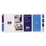 HP No.80 Printhead and Cleaner Cyan Code C4821A