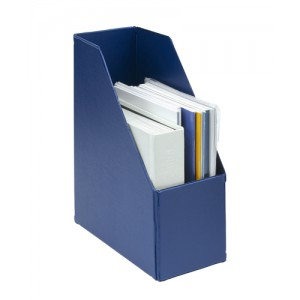 Concept Magazine Rack File Plastic Jumbo 110mm Blue A4 [Pack 5]