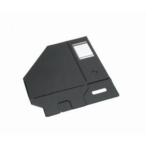 Concept Magazine Rack File Plastic Jumbo 110mm Black A4 [Pack 5]