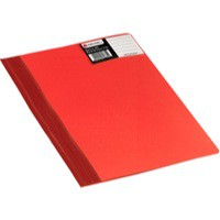 Rexel Nyrex Boardroom Flat File Semi-rigid with Inside Front Full Pocket A4 Red Ref 13035RD [Pack 5]