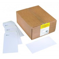 Image for Spey Envelope White Wove 90gm DL 110x220mm Gummed Flapped Pack 1000