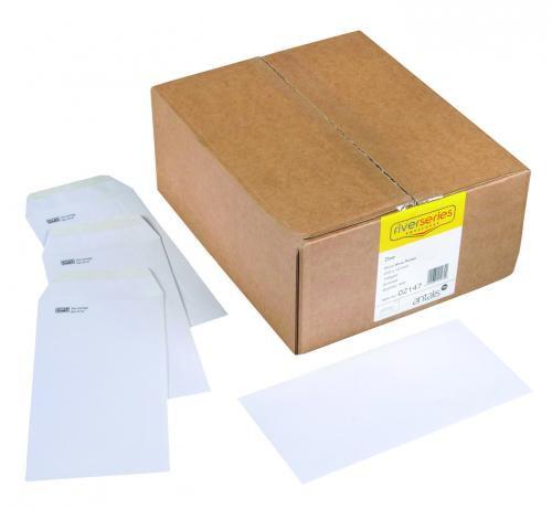 Spey Envelope White Wove 90gm DL 110x220mm Gummed Flapped Pack 1000