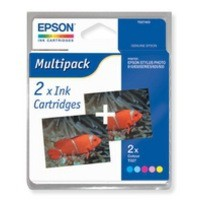 Epson Stylus Photo 810 Inkjet Cartridge 3-Colour Pack of 2 C13T027403