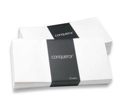 Conqueror Laid Cream DL Envelope FSC4 110X220mm Sup/Seal Bnd 50 Wdw 22Up 17Lhs
