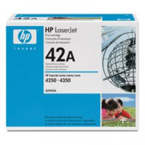 Hewlett Packard [HP] No. 42A Laser Toner Cartridge Page Life 10000pp Black Ref Q5942A