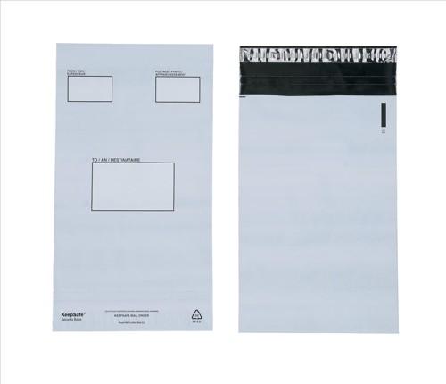 KeepSafe DX Bags Polythene Self-seal 70micron 46mm Flap Opaque C4+ Ref P25 [Box 100]