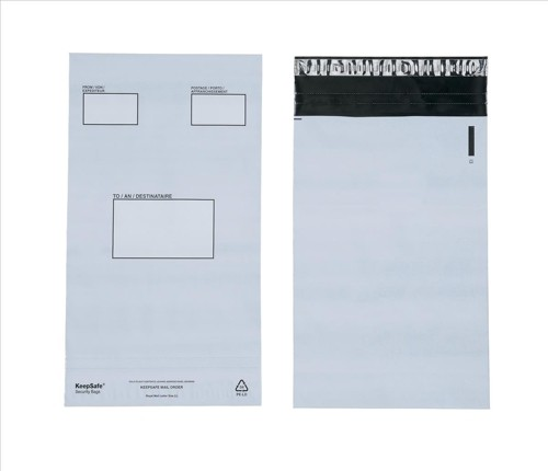 Keepsafe Envelope Extra Strong Polythene C4 240x320mm Peel & Seal Opaque Pack 100