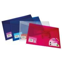 Image for Concord Stud Wallet File Translucent Polypropylene Foolscap Clear Ref 6128-PFL (CLR) [Pack 5]