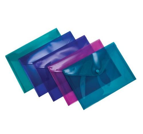 Pukka Stud Wallet File Vibrant Polypropylene A5 Assorted Pack 5