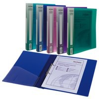 Snopake 2-Ring Binder A4 25mm Electra Pack of 10 Assorted 10165