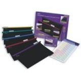 Snopake HangGlider Suspension Files Polypropylene with Tabs Foolscap Assorted Pack 25 Code 10279