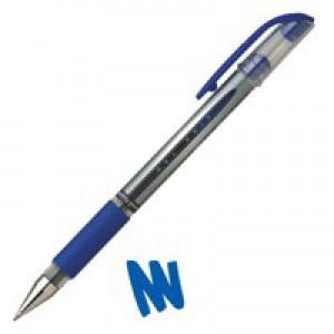 Uni-ball UM151S SigNo Gel Rollerball Comfort Grip 0.7mm Tip 0.5mm Line Blue Ref UM151BLU [Pack 12]