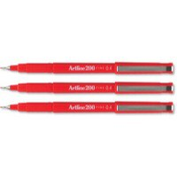 Artline 200 Pen 0.4mm Tip Red A2002