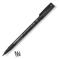 Staedtler Lumocolor Permanent Pen Fine 0.6mm Line Black Code 318-9