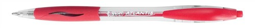 Bic Atlantis Ball Pen Retractable Cushioned Grip 1.0mm Tip 0.3mm Line Red Code 11990136872