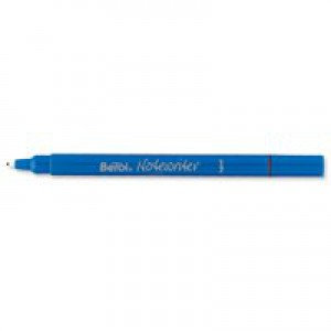 Berol Notewriter Pen Water-based Ink Plastic 0.9mm Tip 0.6mm Line Black Ref S0380240 [Pack 12]