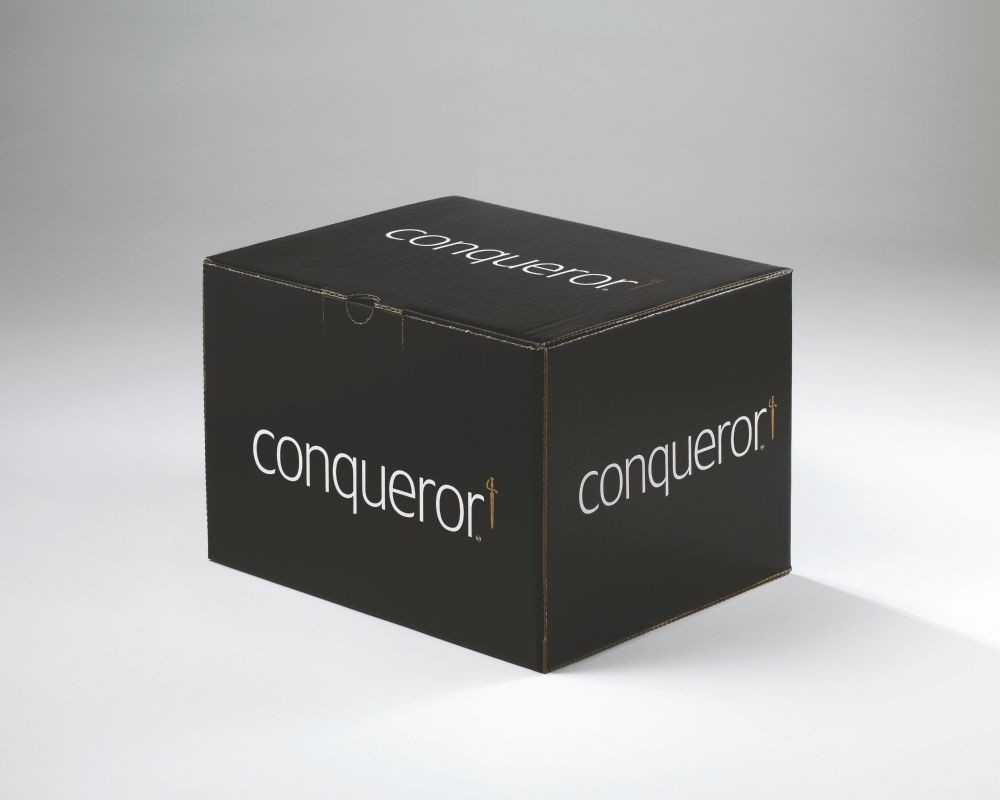 Conqueror Envelope Laid Brilliant White C6 114x162mm SuperSeal Banded 50 Boxed 500