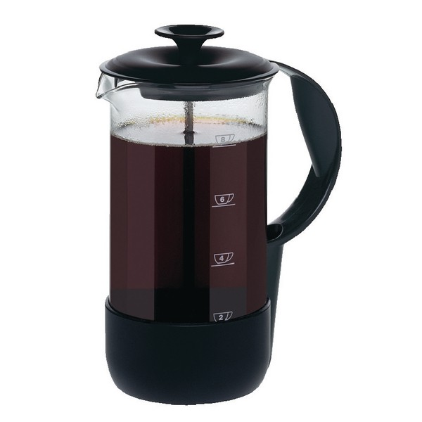 Emsa Neo Cafetiere Glass Heat-resistant and Stainless Steel 8 Cup Black Trim Ref 1225089700