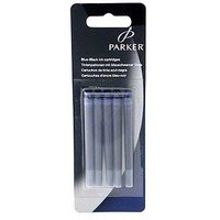 Parker Quink Cartridge Ink Refills Box of 5 Blue-Black Ref S0881590 [Pack 12]