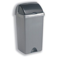 Roll Top Bin Polypropylene 48 Litres Metallic Silver