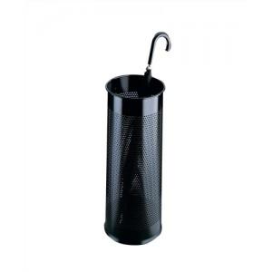 Durable Umbrella Stand Tubular Metal Perforated 28.5 Litres Black Ref 3350/01