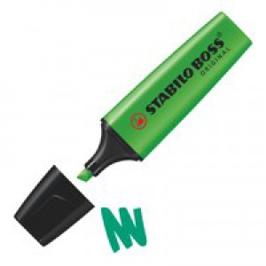 Stabilo Boss Highlighters Chisel Tip 2-5mm Line Green Code 70/33/10