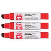 Pentel Marker Chisel Tip Red M180/6-B