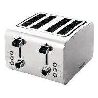 Image for Toaster Defrosting Variable Browning 4 Slice 1800W Stainless Steel
