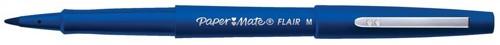 Paper Mate Fine Line Marker Nylon 1.1mm Tip 0.8mm Line Blue Ref S0191013 [Pack 12]