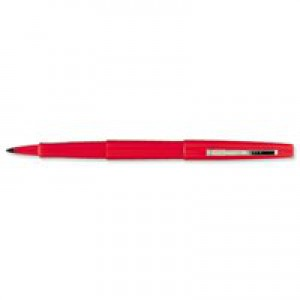 Paper Mate Fine Line Marker Nylon 1.1mm Tip 0.8mm Line Red Ref S0190993 [Pack 12]