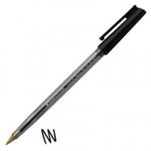 Staedtler 430 Stick Ball Pen Medium 1.0mm Tip 0.35mm Line Black Code 430M-9