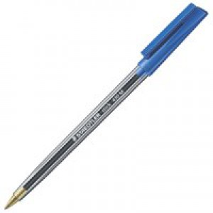 Staedtler 430 Stick Ball Pen Medium 1.0mm Tip 0.35mm Line Blue Code 430M-3