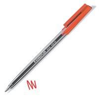 Staedtler 430 Stick Ball Pen Medium 1.0mm Tip 0.35mm Line Red Code 430M-2