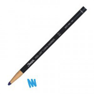 Sharpie China Wax Marker Pencil Peel-off Unwraps to Sharpen Blue Ref S0305091 [Pack 12]