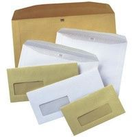Autofil Envelope White Wove 90gm 111X232Mm G/F Bx500 Window 22Up 23Lhs