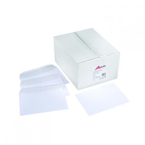 Autofil Envelope White Wove 90gm DL 110x220mm Gummed Flapped Boxed 500