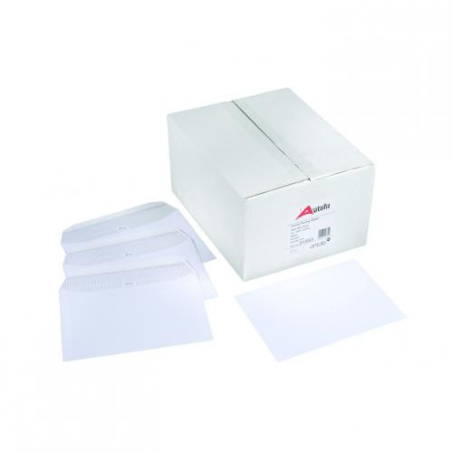 Autofil Envelope White Wove 90gm DL 110x220mm Gummed Flapped Boxed 500