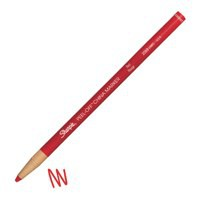 Image for Sharpie China Wax Marker Pencil Peel-off Unwraps to Sharpen Red Ref S0305081 [Pack 12]