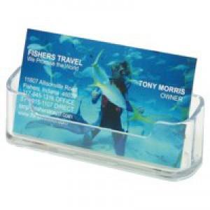 Business Card Holder Desktop Single Pocket Clear