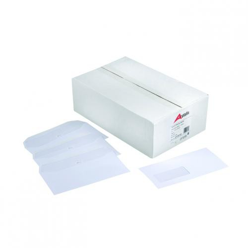 Autofil Envelope White Wove 90gm C5 162x229mm Gummed Flapped Window 72Up 15Lhs Boxed 500
